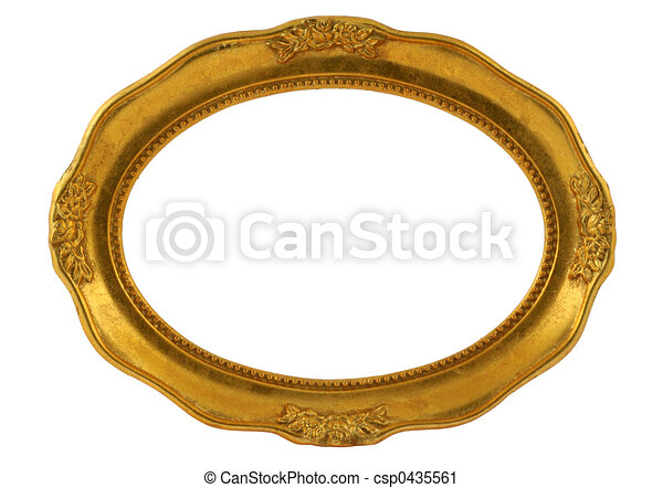 Gilded Oval Frame Clipart