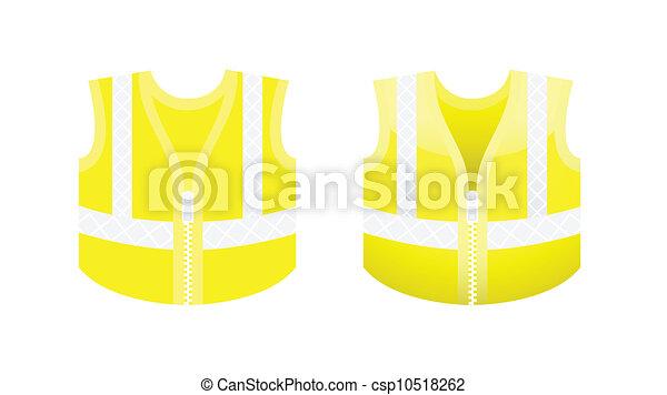 gilet fluorescent protecteur jaune vecteur gilet clip art vectoriel rechercher des. Black Bedroom Furniture Sets. Home Design Ideas