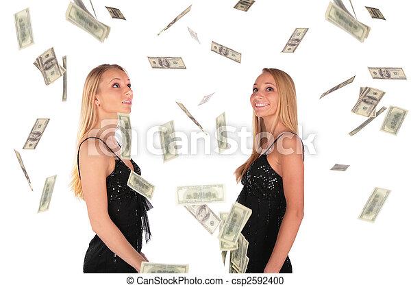gilrs, tvilling, dollar, ser, stjärnfall - csp2592400