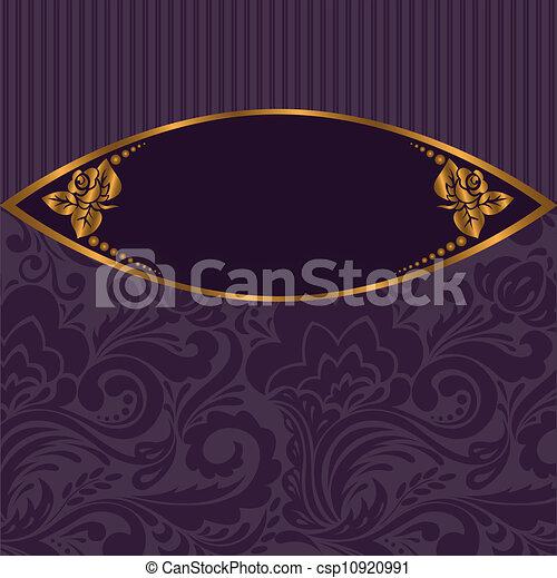gilt vignette on purple - csp10920991