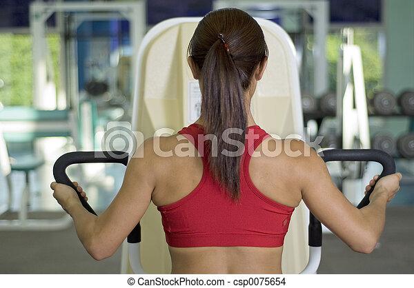 En el gimnasio - csp0075654