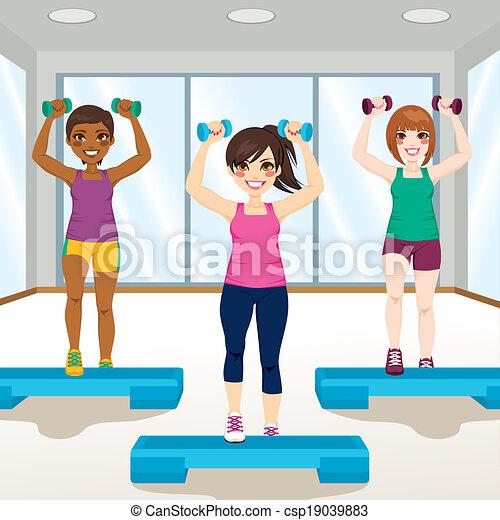 Chicas en el gimnasio - csp19039883