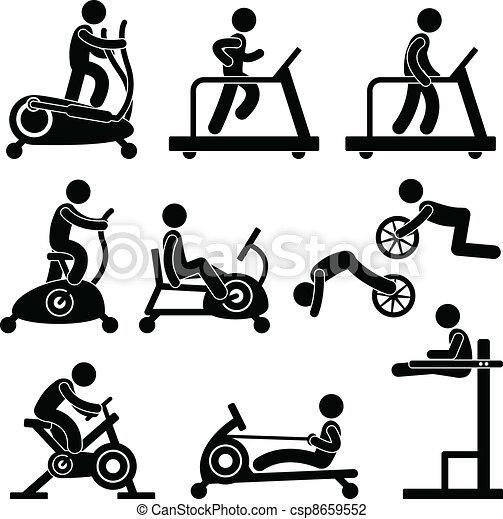 ginásio, ginásio, exercício, condicão física - csp8659552