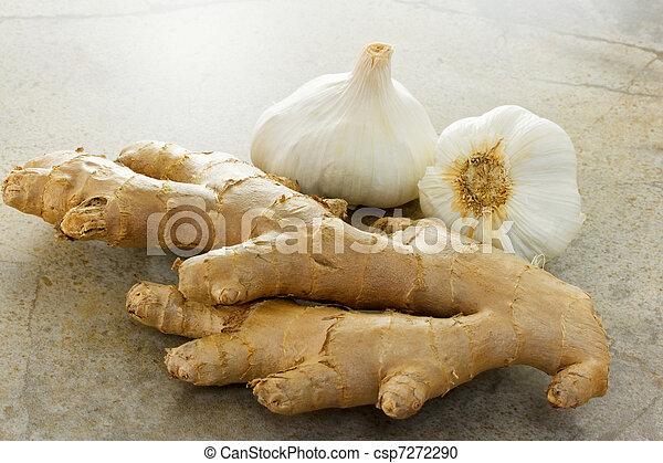 Ginger and garlic - csp7272290