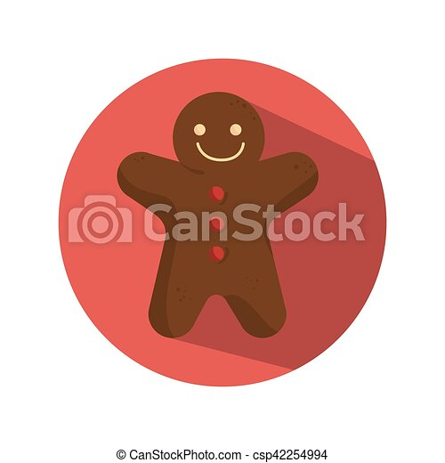 ginger bread christmas card - csp42254994