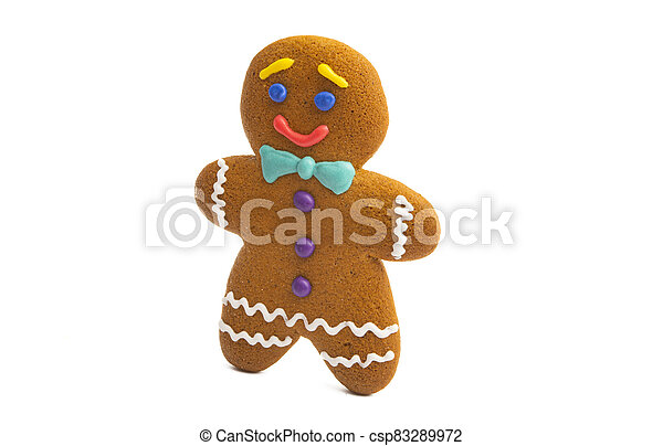 ginger christmas cookie isolated - csp83289972