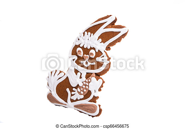 ginger cookie hare isolated - csp66456675