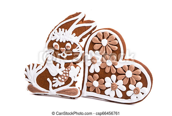 ginger cookie hare isolated - csp66456761