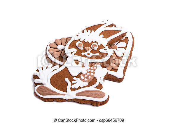 ginger cookie hare isolated - csp66456709