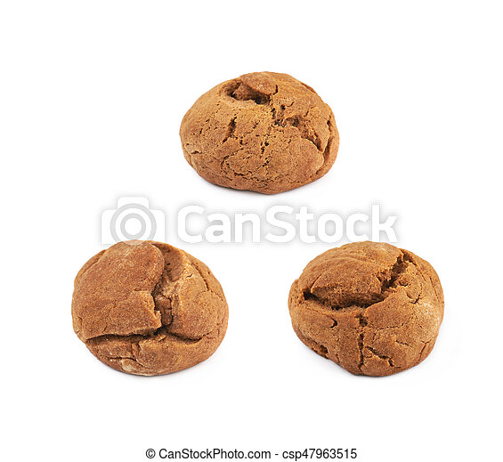 Ginger cookie isolated - csp47963515