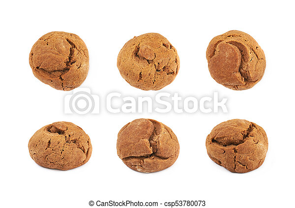 Ginger cookie isolated - csp53780073