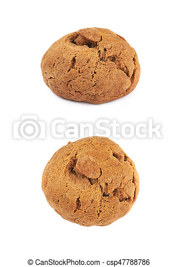 Ginger cookie isolated - csp47788786