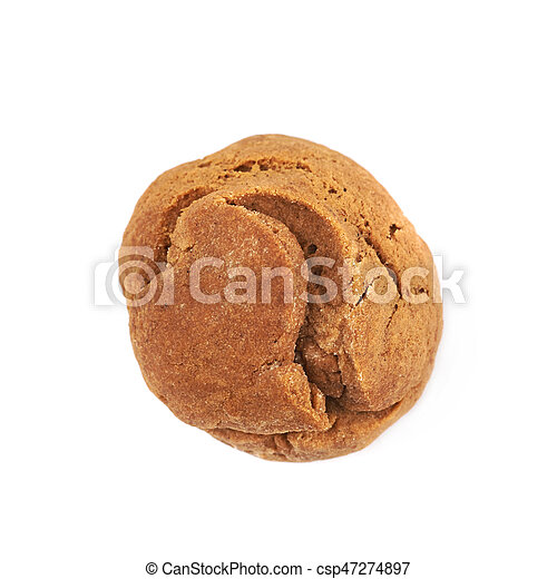 Ginger cookie isolated - csp47274897