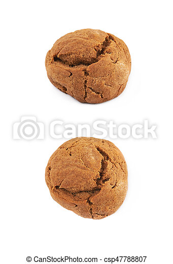 Ginger cookie isolated - csp47788807