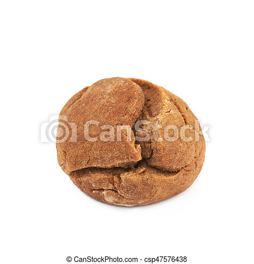 Ginger cookie isolated - csp47576438