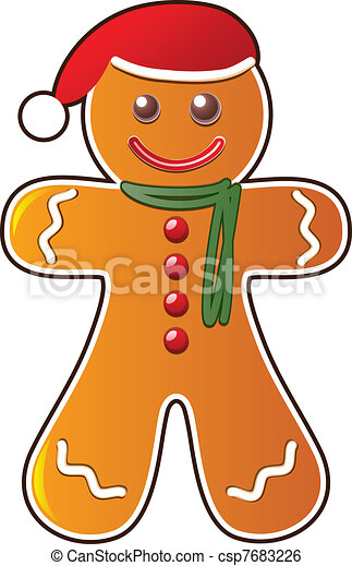 vector gingerbread cookie clip art vector search drawings and rh canstockphoto com gingerbread clipart black and white gingerbread clipart christmas