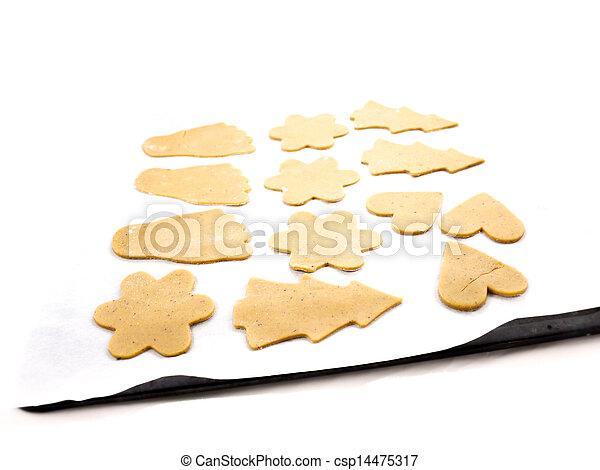 Gingerbread cookie dough - csp14475317