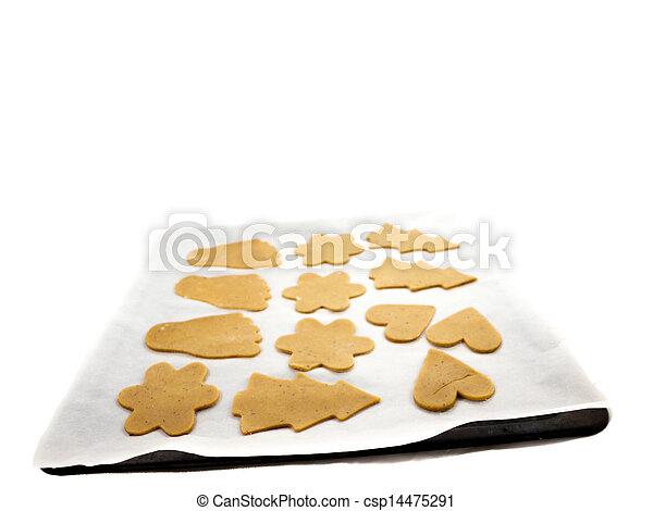 Gingerbread cookie dough - csp14475291