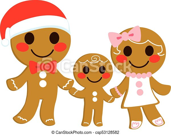 Gingerbread Cookie Family - csp53128582