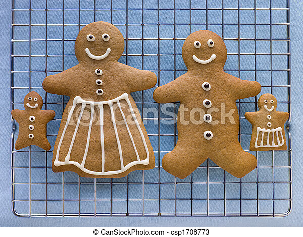 Gingerbread Family - csp1708773