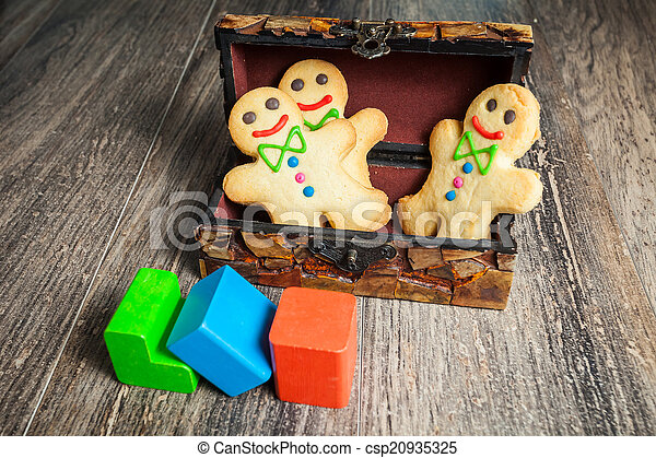 Gingerbread in the form of little man - csp20935325