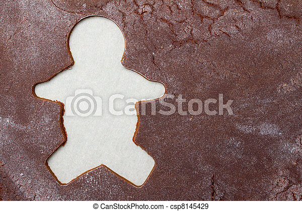 Gingerbread man background - csp8145429
