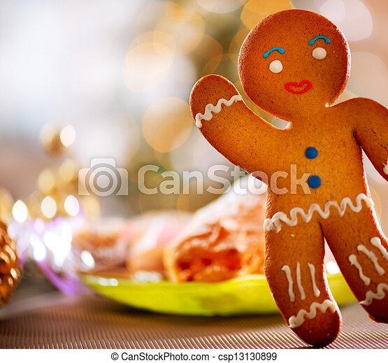 Gingerbread Man. Christmas Holiday Food - csp13130899