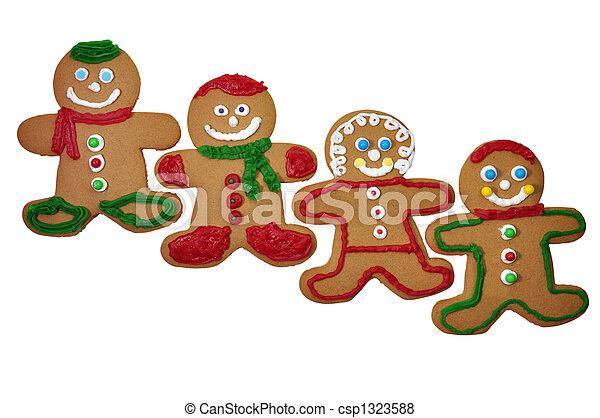 Gingerbread Man Cookies - csp1323588