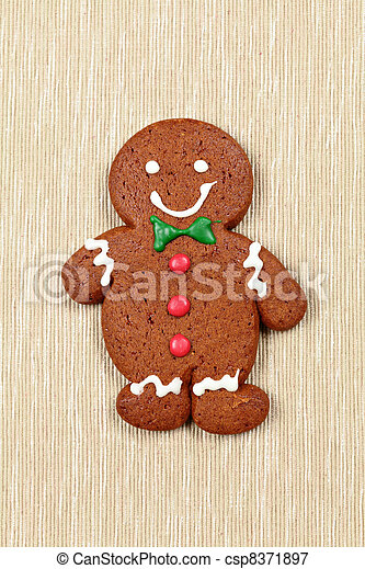 gingerbread man for christmas - csp8371897
