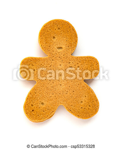 gingerbread man on a white background - csp53315328