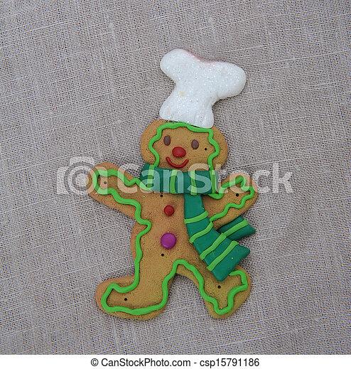 Gingerbread man - csp15791186