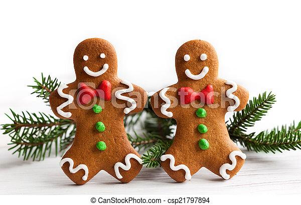 Gingerbread men - csp21797894