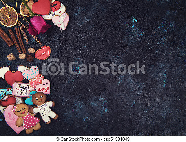 Gingerbreads for love or marrige - csp51531043