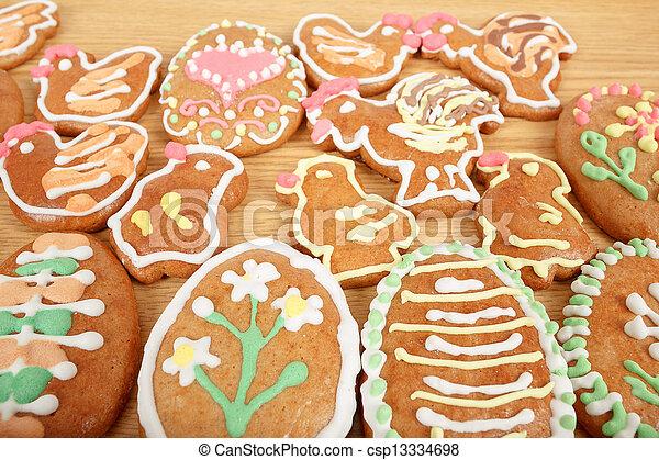 gingerbreads, húsvét, gyűjtés - csp13334698