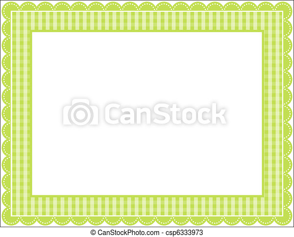 Gingham Frame - csp6333973