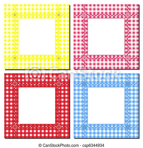 Gingham frames - csp6344934
