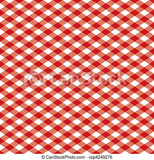 Gingham Pattern Red - csp4249276