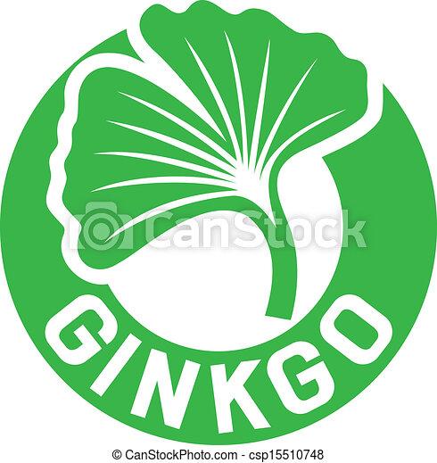 ginkgo biloba symbol - csp15510748