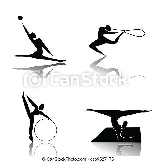 ginnastiche ritmiche - csp9527175