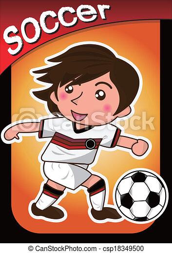Giocatore calcio cartone animato