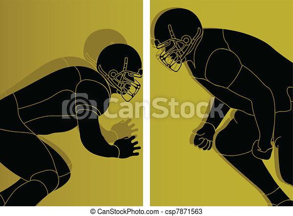 giocatore, football americano - csp7871563