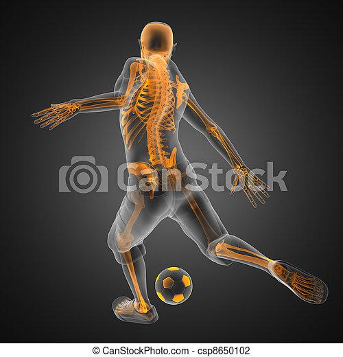 giocatore, gioco, calcio - csp8650102