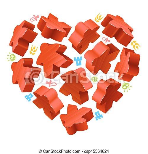 giochi, concetto, amore, asse - csp45564624