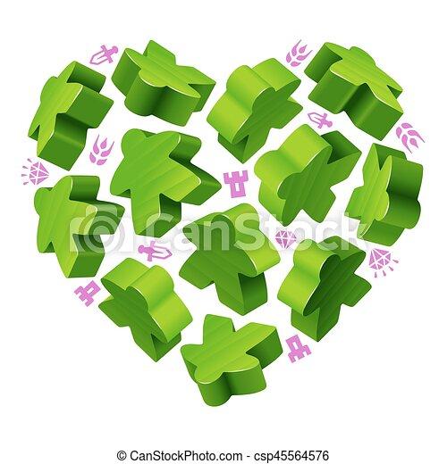 giochi, concetto, amore, asse - csp45564576