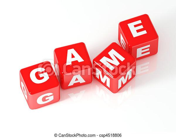 gioco, cubo, 3d - csp4518806
