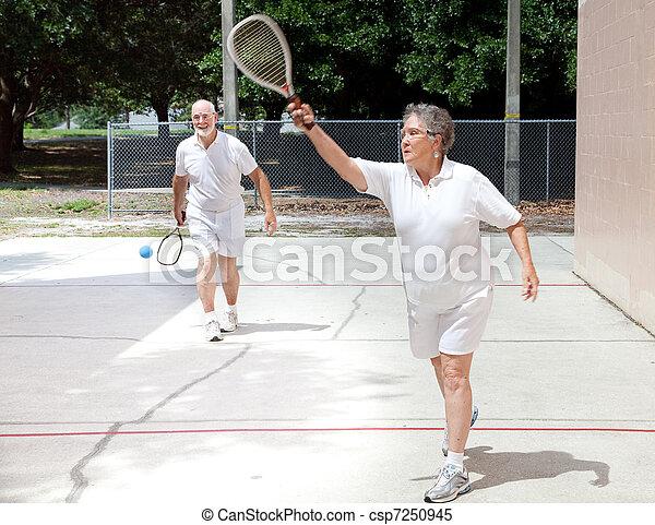 gioco, retirees, racquetball - csp7250945