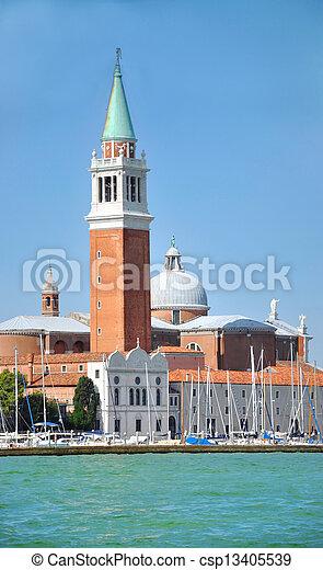 Torre de San Giorgio Maggiore en Venecia, Italia - csp13405539