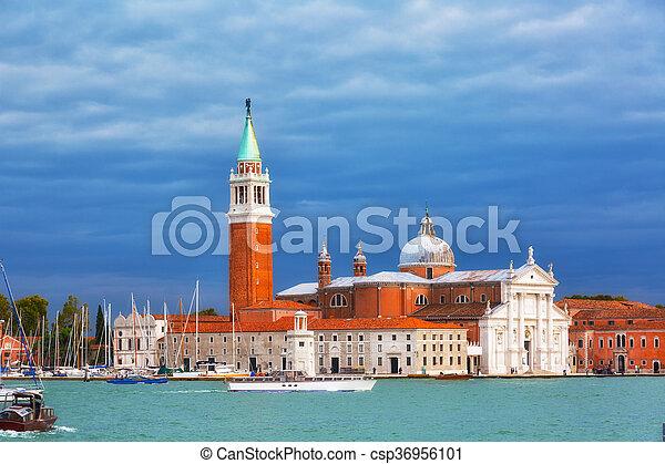 Iglesia de San Giorgio Maggiore, Venecia, Italia - csp36956101
