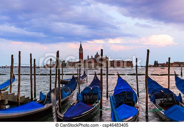 San giorgio maggiore iglesia en Venecia Italia - csp46483405