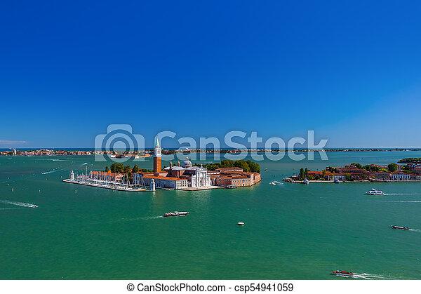San giorgio maggiore iglesia en Venecia Italia - csp54941059